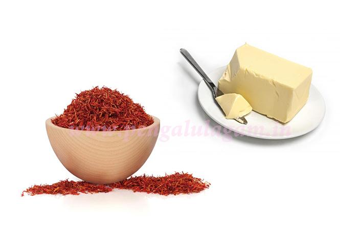 beauty-tips-saffron-butter